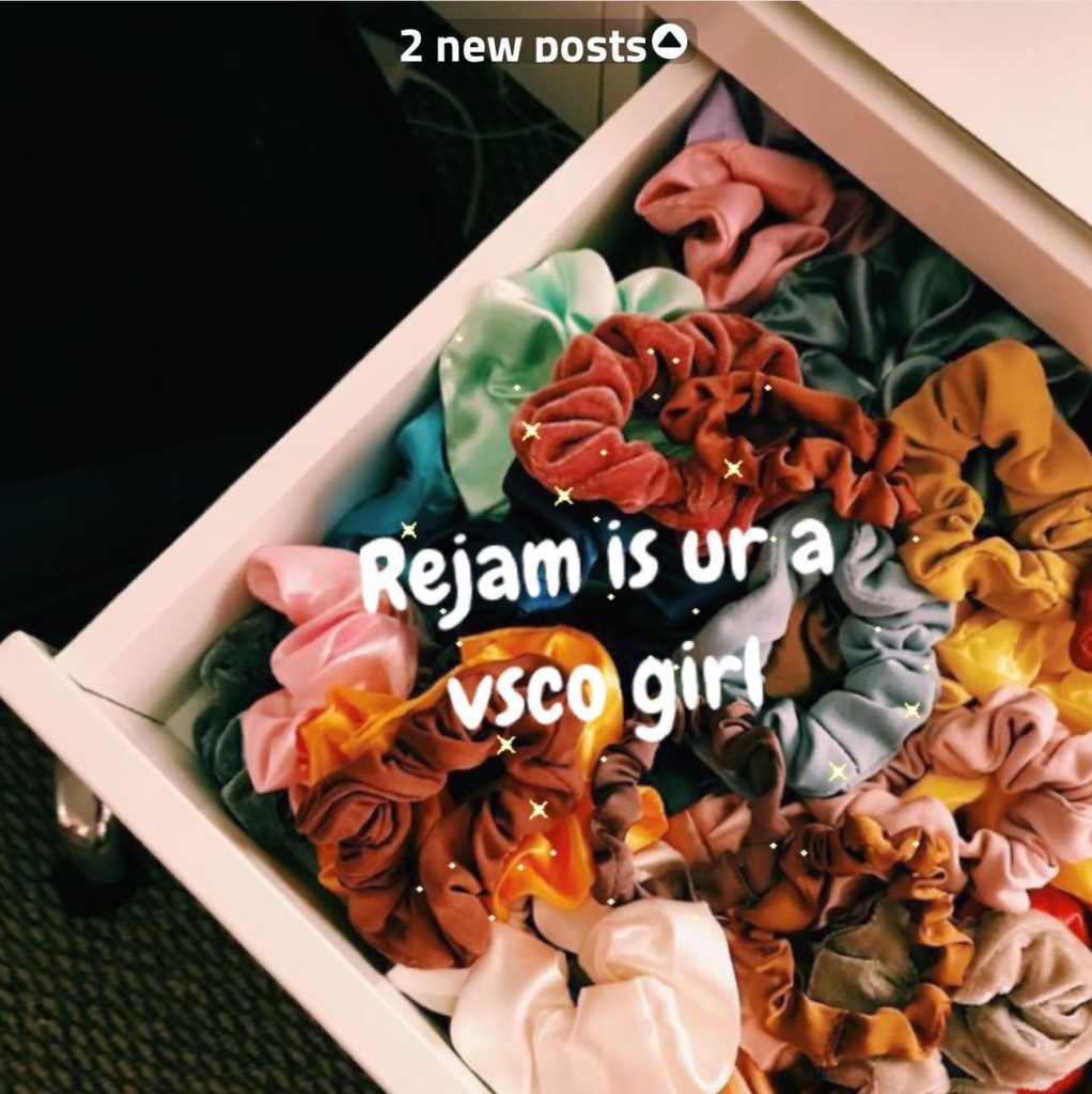 VSCO girl post on Popjam