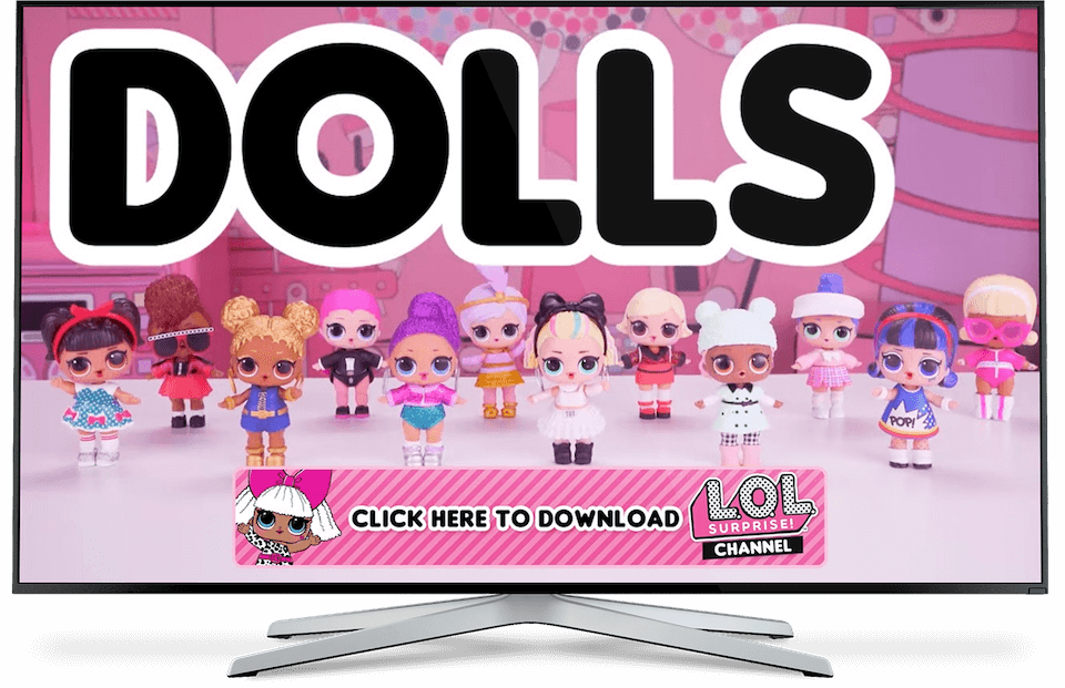 TV OTT mockup dolls