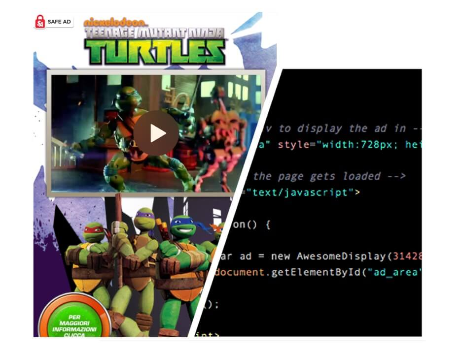 AwesomeAds for content owners - TMNT example