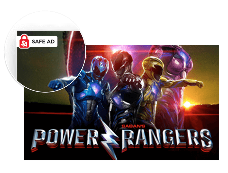 AwesomeAds safe ad programmatic - Power Rangers example