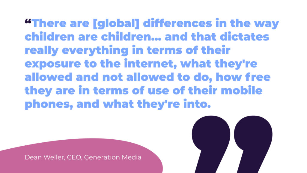 Dean Weller, CEO, Generation Media shares the importance of understanding your youth target audience.
